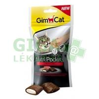 Gimcat Nutri pockets hovězí a malt pasta 60g