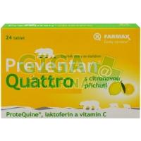 Preventan Quattro s citronovou příchutí 24 tablet