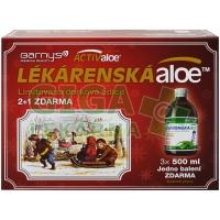Barnys Lékárenská aloe 3x500ml VÁNOCE