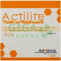 Actilite 10x10cm krytí antimikrobiální s medem 10ks