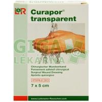 Náplast Curapor Transparent sterilní 7x5cm 5ks