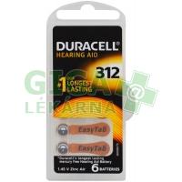 Baterie do naslouchadel Duracell DA312P6 Easy Tab 6ks