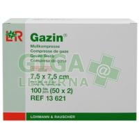 Gáza hydrofilní skládaná komprese sterilní Gazin 7.5x7.5cm 100ks