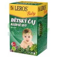 LEROS BABY Dětský čaj Klidné sny 20x1.5g
