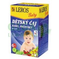LEROS BABY Dětský čaj Kašel a průdušky 20x1.5g