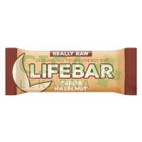 Lifefood Lifebar tyčinka BIO karobová s lískovými oříšky 47g