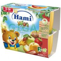 Hami 100% ovoce jablko+meruňky a jahoda 4x100g