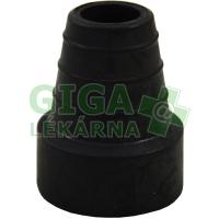 Násadec na berle 3TK pryžový černý kovová výztuž 18mm-42mm