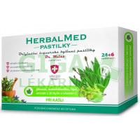 HerbalMed pastilky Jitrocel s mateřídouškou, lípou a vit.C 24+6