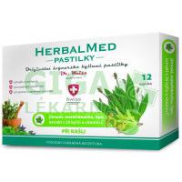 HerbalMed pastilky Jitrocel s mateřídouškou, lípou a vit.C 12