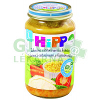 HiPP Dětské menu BIO Zelenina s těstovinami a kuřetem 220g