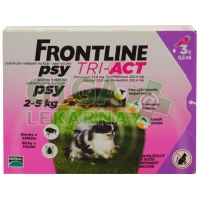 Frontline Tri-Act psi 2-5kg spot-on 3x1 pipeta