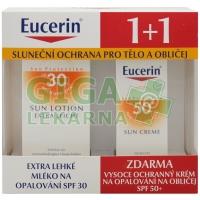 EUCERIN SUN 1+1ZDARMA Ex.leh.ml.SPF30+kr.obl.SPF50