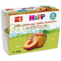 HiPP OVOCE 100% BIO Jablka s broskvemi 4x100g