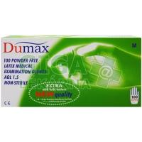 DUMAX vyšetřovací latexové nesterilní nepudrované rukavice M 100ks