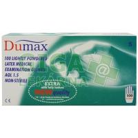 DUMAX vyšetřovací latexové nesterilní pudrované rukavice S 100ks