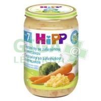 HiPP JUNIOR BIO Těstoviny se zel. a smetanou 220g