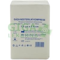 Gáza komprese nesterilní 7,5x7,5 100ks Omat