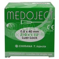 Injekční jehla 0,8x40 zelená Chirana 100ks