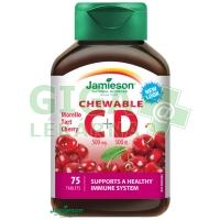 JAMIESON Vitamíny C a D3 třešeň cucací tbl.75