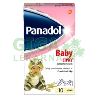 Panadol Baby čípky 125mg rct.sup. 10x125mg