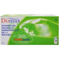 DUMAX vyšetřovací latexové nesterilní nepudrované rukavice S 100ks