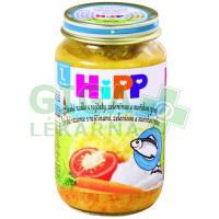 HiPP Dětské menu Široké nudle s rajčaty, zeleninou a rybou 220g