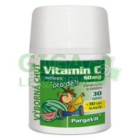 PargaVit Vitamin C meloun pro děti 60 tablet