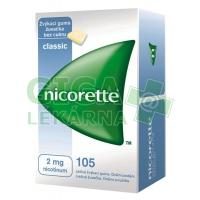 Nicorette Classic Gum 2mg 105 žvýkaček