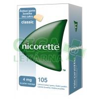 Nicorette Classic Gum 4mg 105 žvýkaček