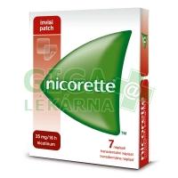Nicorette Invisipatch 25mg/16h 7 náplastí