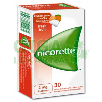 Nicorette Freshfruit Gum 2mg 30 žvýkaček