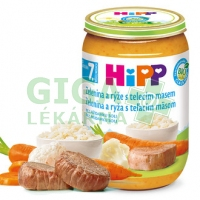 HiPP JUNIOR MENU BIO Zelenina s rýží a telecím masem 220g