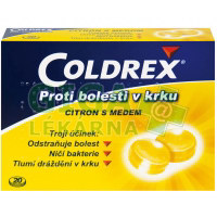 Coldrex proti bolesti krku Citron s medem 20 pastilek