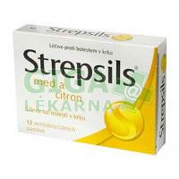 Strepsils Med a Citron 12 pastilek