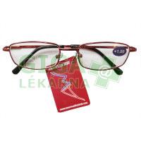 Brýle čtecí American Way +2.00 červené s pouzdrem
