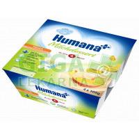 Humana Milch dezert broskev od 6.měsíce 4x100g