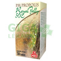 PM Propolis 50C + Royal jelly 500mg 50 tablet