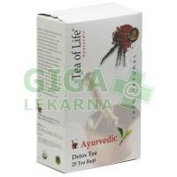 Ajurvédský Bio detoxikační čaj Tea of Life 25x2g
