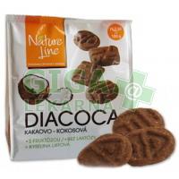 DIACOCA sušenky s fruktózou kakao-kokosovou příchutí 180g