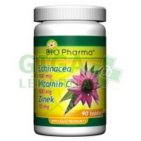 Echinacea 100mg+VitamínC 500mg+Zinek 10mg 90 tablet