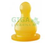 Obrázek BABY NOVA savička latex kulatá 2ks mléko