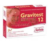 Těhotenský test Gravitest 2in1 HCG 25mlU/ml