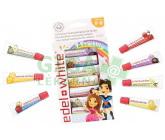 Obrázek EDEL+WHITE Ovocné zubní pasty pro děti 7ks x 9.4ml