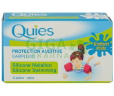 Quies Silik.chrániče sluchu pro děti 3páry-plavání
