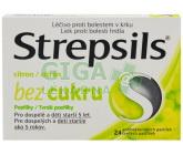 Strepsils Citron bez cukru orm.pas. 24