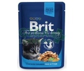 Brit Premium Cat kaps. - Chicken Chunks for Kitten 100g