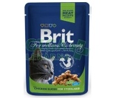 Brit Premium Cat kaps. -Chicken Slices for Steril. 100g