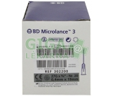 BD Microlance Inj. jehla 27G 0.40x19 šedá 100ks