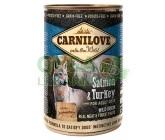 Carnilove Wild Meat Salmon & Turkey Grain Free 400g konzerva